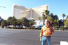 George in fron of the Mirage